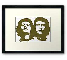 Che  Guevara and Tania Tamara Bunke the only woman Che Loved Framed Print
