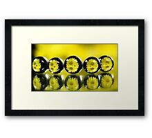 Abstract balls refraction Framed Print
