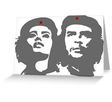 Che Guevara in love with a woman Tania Tamara Bunke  Greeting Card