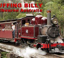 Puffing Billy Fridge Magnet by MorrieMathews