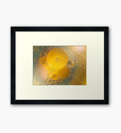 Oil in water # 6 Framed Print
