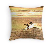 Golden Bays Throw Pillow