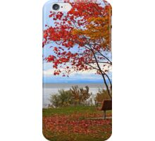 A seat by the lake. iPhone Case/Skin