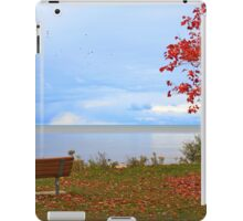 A seat by the lake. iPad Case/Skin
