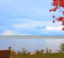 A seat by the lake. Sticker