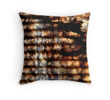 Corrugated Corrosion Throw Pillow