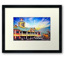 Market place Framed Print