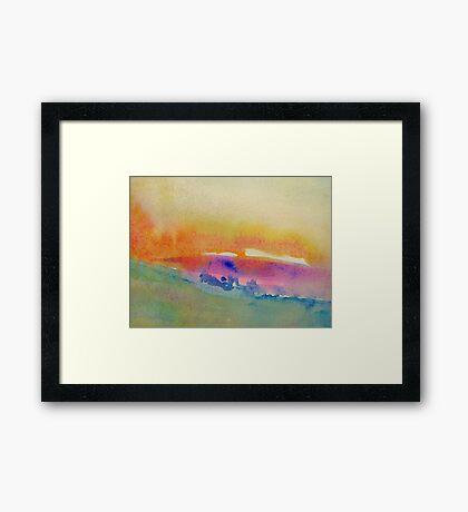Summer Dusk Framed Print