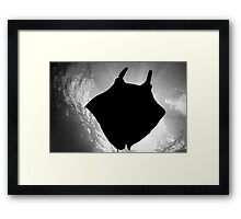 Manta Silhouette B&W Framed Print