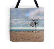 A tree by the lake. Tote Bag
