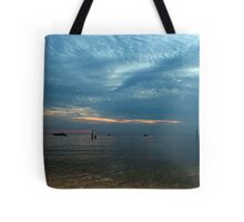 Lake in the evening. Tote Bag