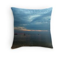Lake in the evening. Throw Pillow