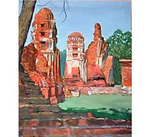 The old ruin Thailand. Photographic Print