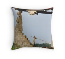 Jenga Barn-Your Move! Throw Pillow