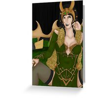 Lady in Green Samsung Case Greeting Card