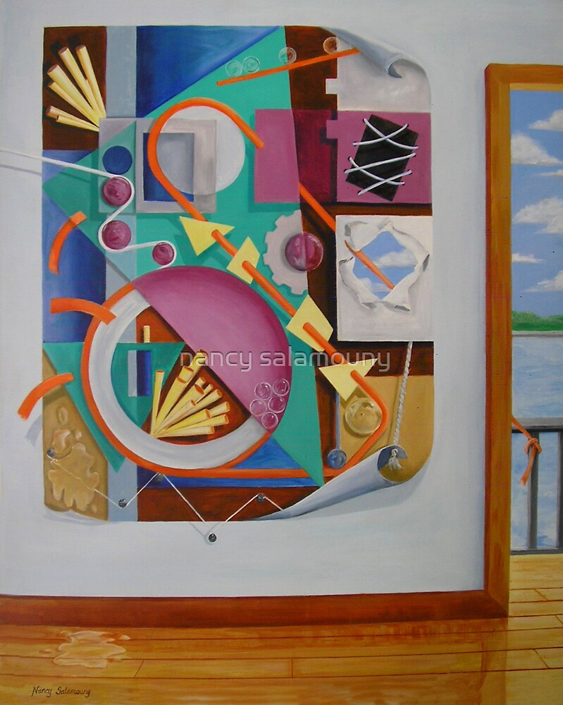 A Painting in a Painting with Doorway by nancy salamouny