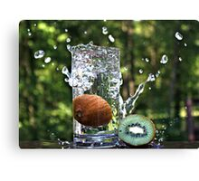 Splash of fresh Kiwi. Canvas Print