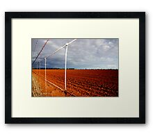 wire fence Framed Print