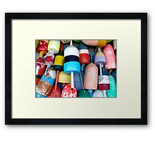 Cape Cod Lobster Buoys Framed Print