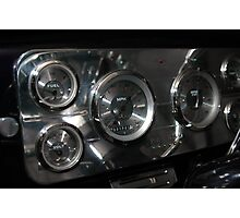 classic dashboard gauges Photographic Print
