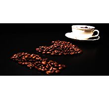 I love Coffee Photographic Print