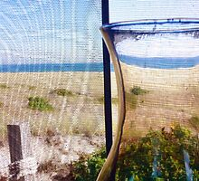 Cape Cod Beach Cottage Window by Christopher Seufert