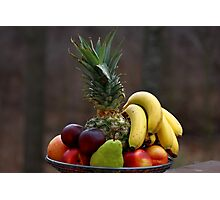 A basket of fruits Photographic Print