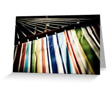 Relaxing Stripes Greeting Card