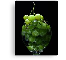 A glass of grapes Canvas Print