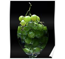 A glass of grapes Poster