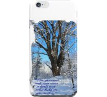 The greatest oak was once a nut iPhone Case/Skin