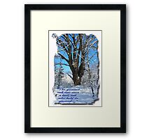 The greatest oak was once a nut Framed Print