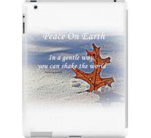 Peace on earth. iPad Case/Skin