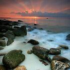 Sennen Cove Sunset by Angie Latham
