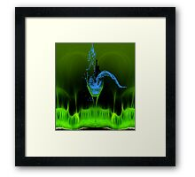 A dip n the glass. Framed Print