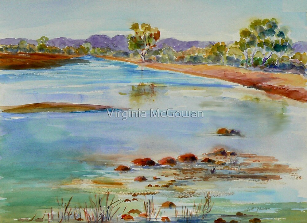 Finke River Crossing  via Hermannsburg N.T. by Virginia McGowan