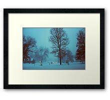 An evening in winter. Framed Print
