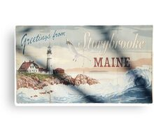 Greetings From Storybrooke - Post Card #2 Canvas Print
