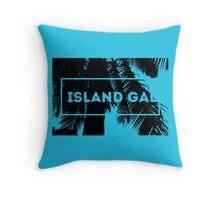 Island Gal Throw Pillow