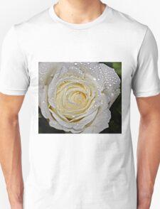 A white Rose. Unisex T-Shirt