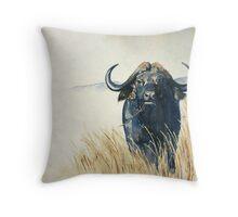 Buffalo in the Veld Throw Pillow