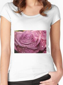 A pink Rose Women's Fitted Scoop T-Shirt