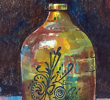 Colorful Jug by arline wagner