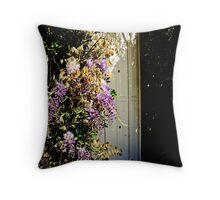 Wisteria door Throw Pillow