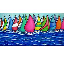 Rainbow Regatta Photographic Print