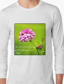 Quote on Anger. Long Sleeve T-Shirt