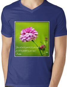 Quote on Anger. Mens V-Neck T-Shirt