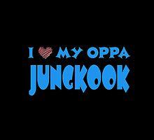 I HEART MY OPPA JUNGKOOK  - BLACK  by Kpop Love