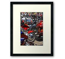Honda Meet Framed Print