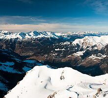 scenic view of snow covered mountains from arosa  by peterwey